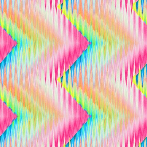 Zig Zag Pink Blue Yellow Handmade Velvet Upholstery Recover Chair Fabric Fiber Art Modern Fabric