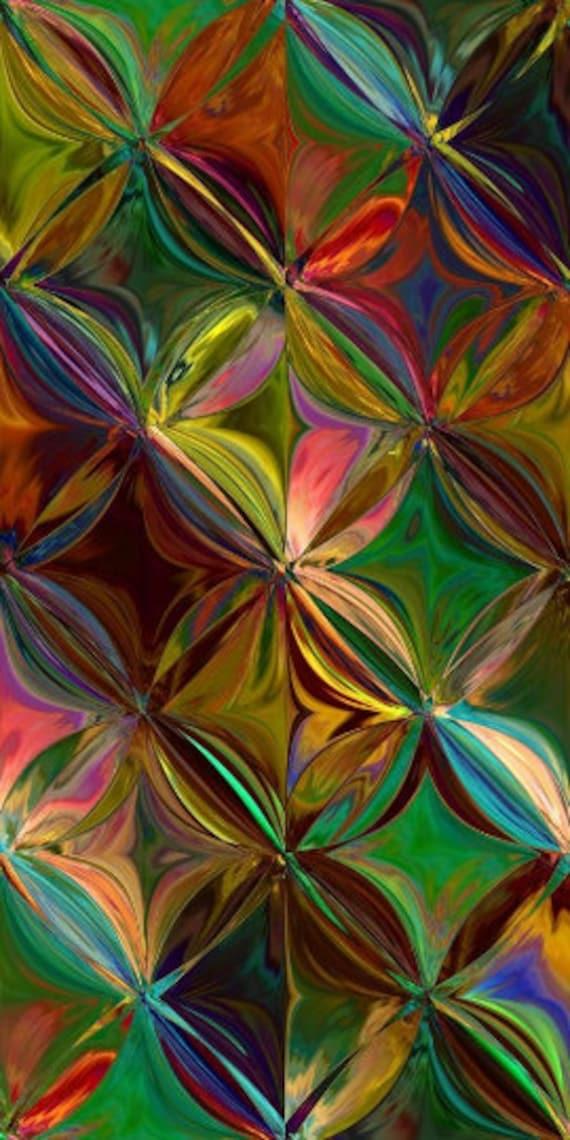 Artisan Handmade Velvet Upholstery Fabric Abstract Flowers Design