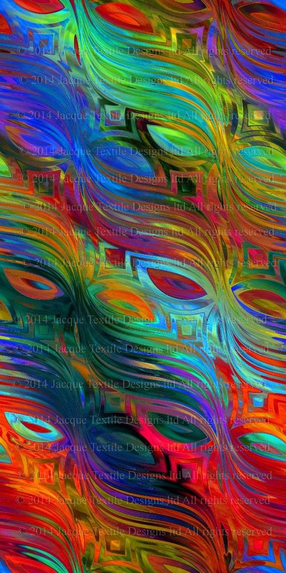 Artist Made Colorful Masks Crepe de Chine Fabric Fiber Art Apparel Fashion Sheer Home Decor