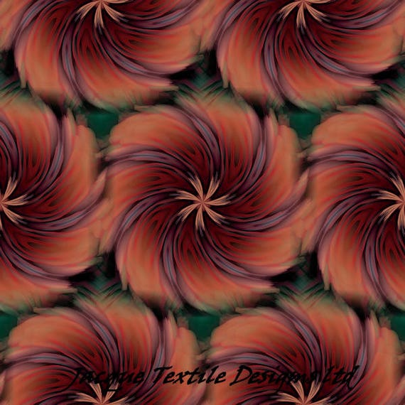 Abstract Flower ART Quilting Cotton Fabric Panel Artist Made Fiber Art  Home Decor Fabric