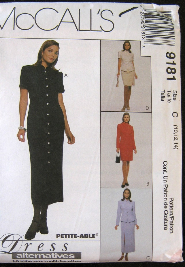 241077ce54c McCalls sewing pattern Dress Skirt Top 10 12 14 sewing