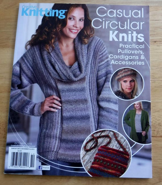 Circular Knitting Patterns Creative Knitting October 2015 Etsy