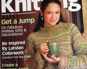 Creative Knitting 2006 Knit pattern magazine women men kids contemporary knitting patterns