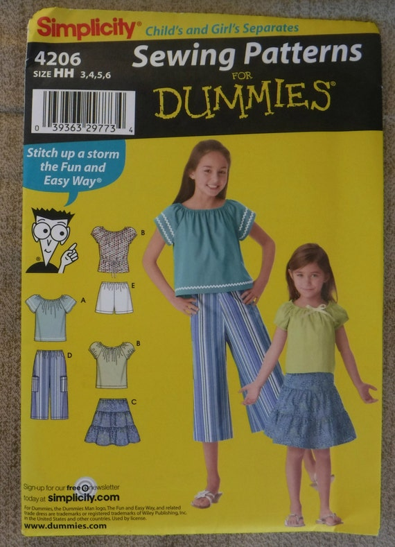 Easy Girls Sewing Pattern Top Pants Skirts Shorts Sewing Etsy