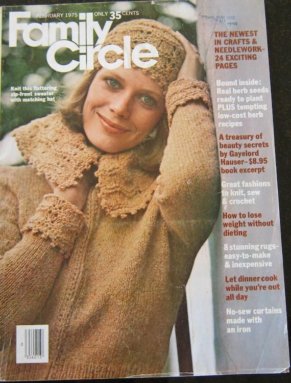 Family Circle Crochet Knitting Recipe 1975 Vintage Pattern Etsy