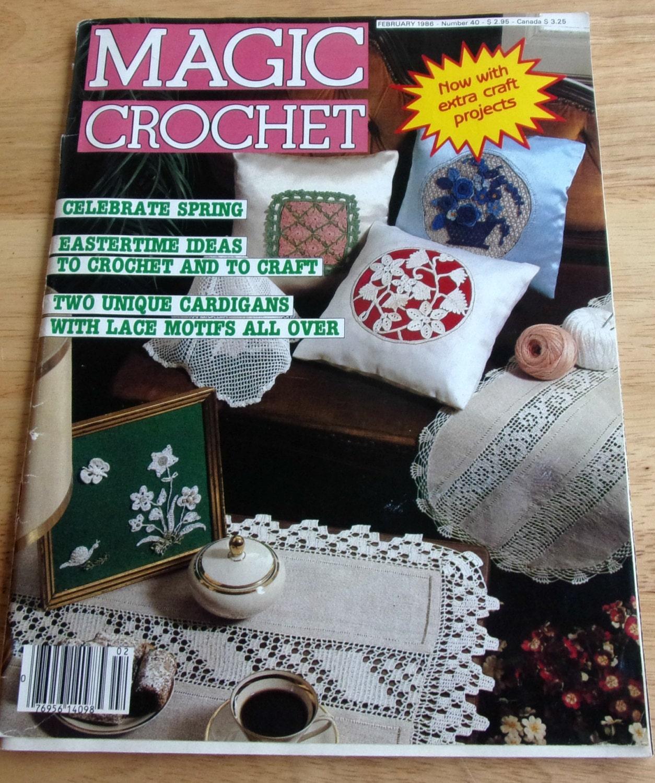 Magazine For Home Decor: Magic Crochet 1986 Vintage Crochet Pattern Magazine Home