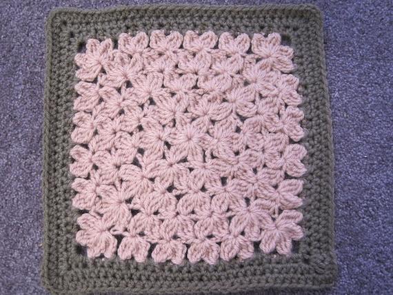 In Treble Crochet Pattern For 12 Afghan Square Etsy