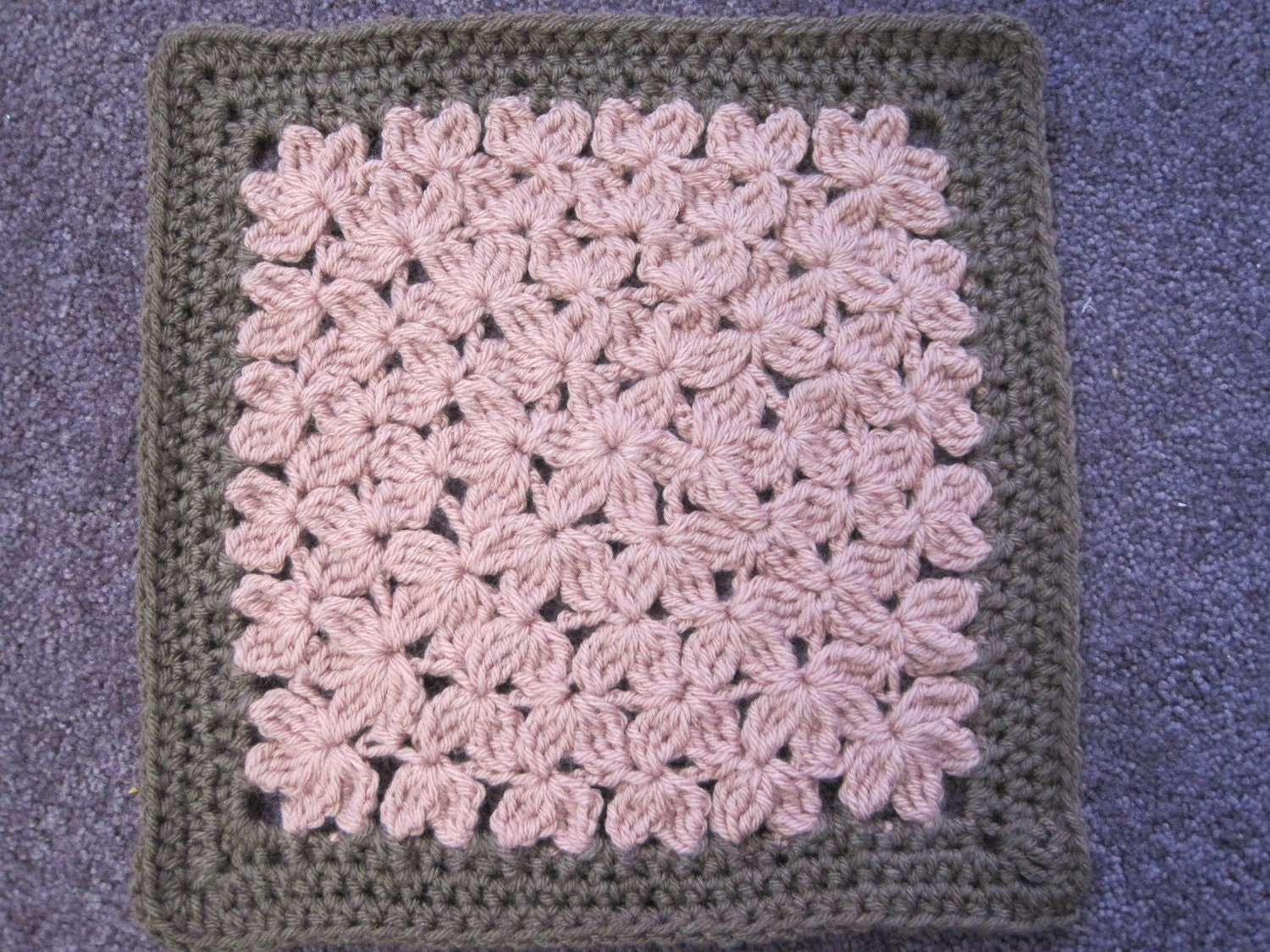 In Treble Crochet Pattern For 12 Afghan Square Etsy