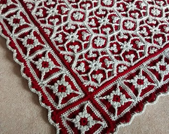 Roses and Ivy - Original Crochet Blanket Pattern by Julie Yeager