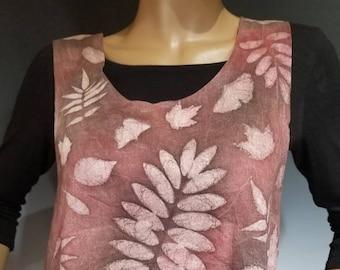 Linen Sunprinted Layering Top