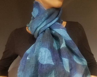 Linen Sunprinted Scarf 16x72 inches