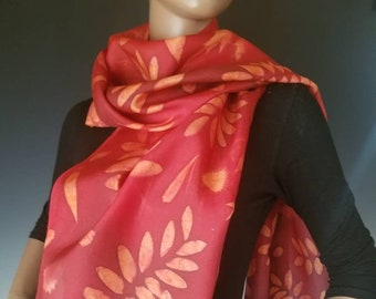 Silk Sunprinted Scarf 16x72 inches