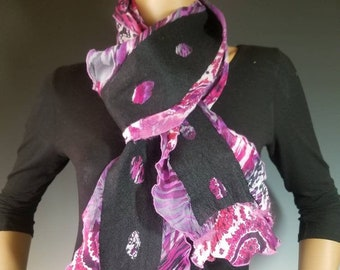 Reversible Mosaic Silk Wool Scarf