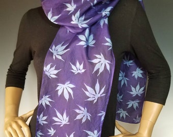Silk Sunprinted Scarf 8x72 inches