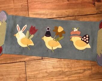 Long Easter, Spring, Chick, Table Runner, Easter Chicks, Spring Chicks