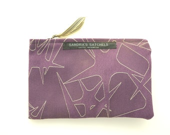 Purple Star Makeup Bag, Accessory Bag