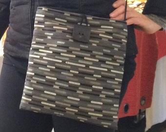 Large Black and White Sophisticate Shoulder Bag