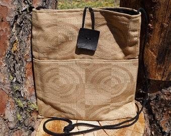 Gold swirl Large Shoulder Bag with Pockets, Crossbody Bags, Shoulder Purse, Crossbody Purse