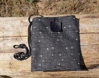 Dark Gray Shoulder Bag, Crossbody Bag Medium