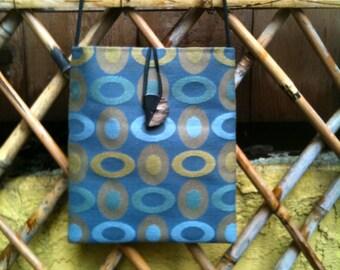 Blue Ovals Medium Shoulder Bag