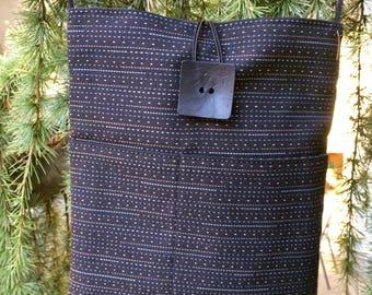 Black Digital Design Shoulder Bag