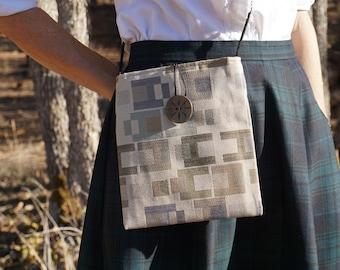 Sand with H Pattern Medium Shoulder Bag, Crossbody Bag, Crossbody Bag, Crossbody Purse, Everyday Bag