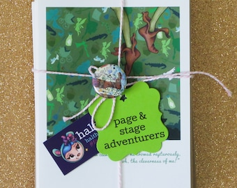PAGE & STAGE ADVENTURERS faerie tale feet blank greeting card book bundle