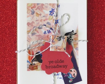 BROADWAY BUNDLE ye olde broadway faerie tale feet blank greeting card variety pack plays and musicals stationary