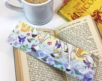 THE LAST UNICORN luxe faerie tale feet bookmark unicorn art two-sided quote bookmark fantasy book art inspired by the peter s. beagle novel