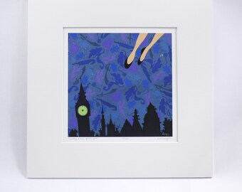 WENDY wendy loves peter pan.  limited edition signed & numbered archival faerie tale feet print