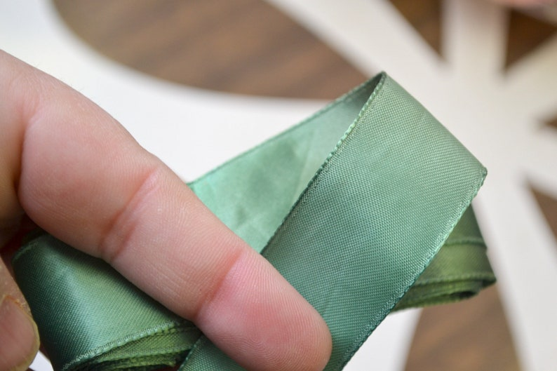 Vintage Kelly Green 1 Satin Ribbon