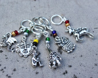 Care of Magical Creatures Class at Hogwarts - Harry Potter Non-Snag Stitch Markers