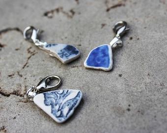 Sea Pottery Shard Progress Keeper or Stitch Marker