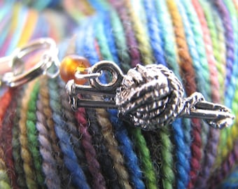 Cell Phone or Project Bag Charm for Knitters