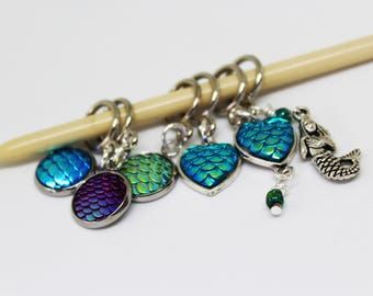 Mermaid Scales Non-Snag Stitch Markers