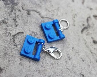 LEGO Blue Plate - Progress Keeper or Stitch Marker