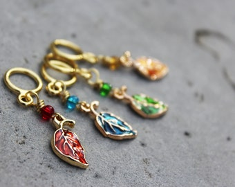 Autumn Leaves Non-Snag Stitch Markers