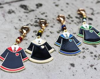 Hogwarts House Robes Non-Snag Stitch Marker or Keychain/Keyring