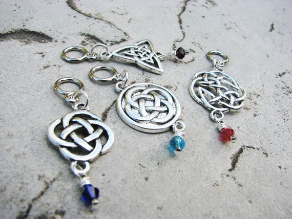 Details about  /USA Handcrafted Personalized Irish Celtic Theme Knitter Stitch Marker Maker Gif