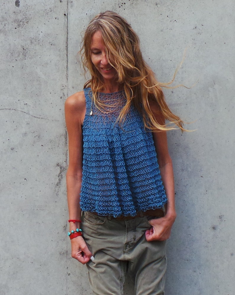 7ab37aa397e8 blue vest top