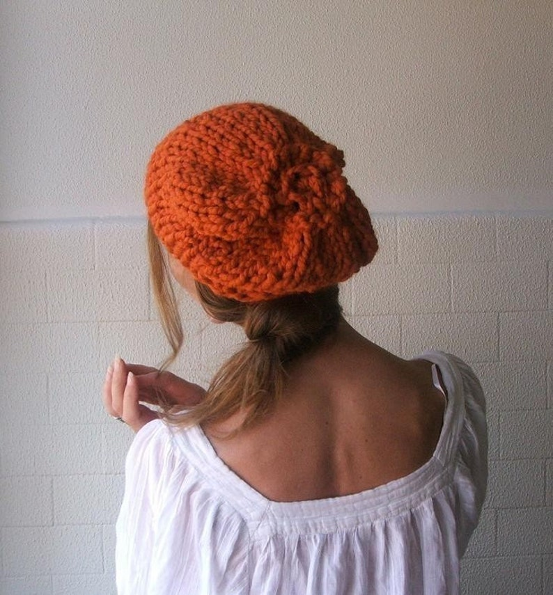 6cf10df268c Orange hat Burnt Orange Chunky hat chunky slouchy beanie