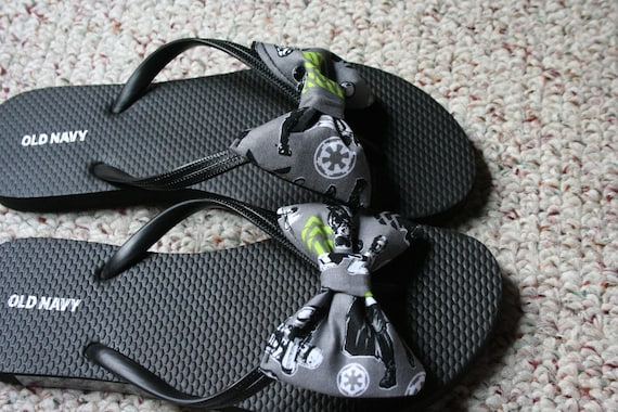 804b5521b867 Star Wars Rouge one Flip Flop Sandals fabric handmade to your