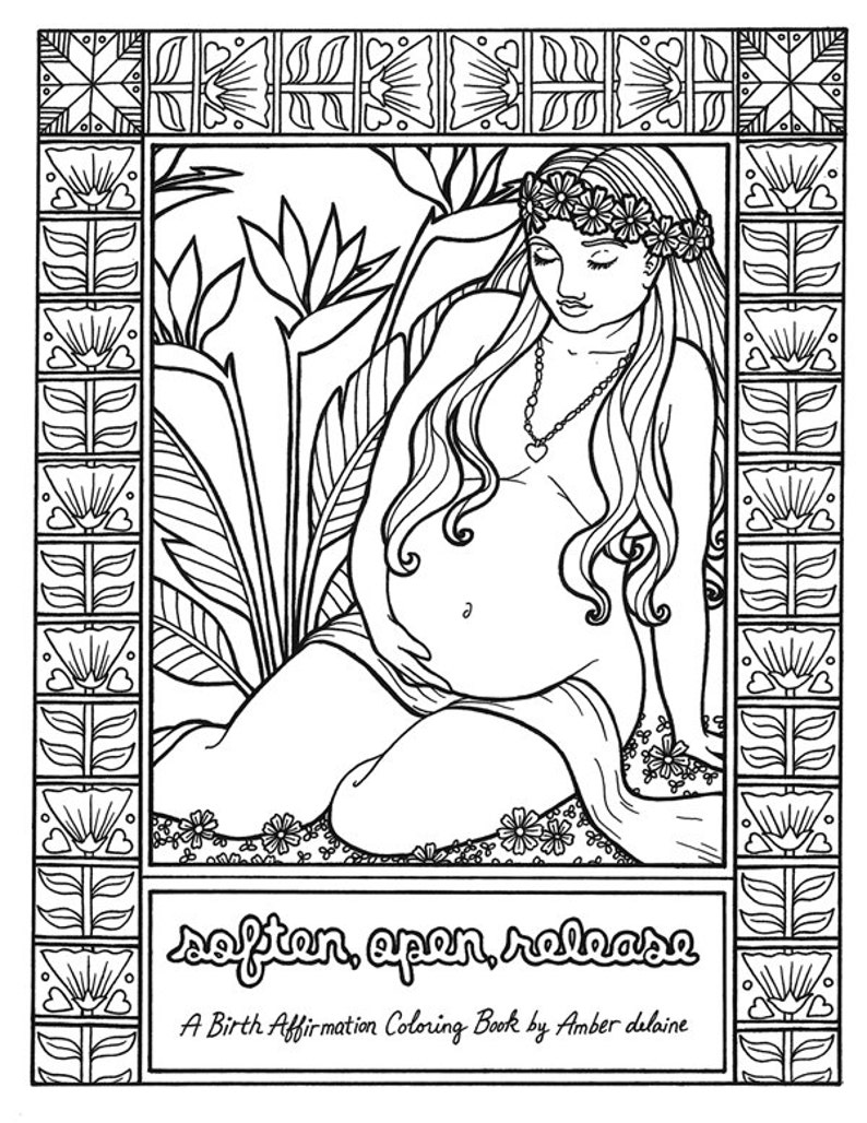 Birth Affirmation Coloring Book  Soften Open Release  by image 0
