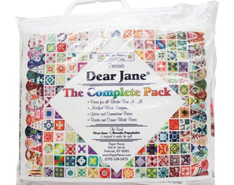 FREE SHIPPING, COMPLETE Paper Piece Pack, Collection for Dear Jane Quilt, 5,602 pieces, borders, corners, blocks