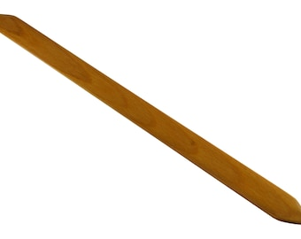 """18"""" Pick Up Stick, Weaving Sword, Shed Stick For Inkle Weaving, Tablet Weaving, Card Weaving - Handcrafted Weaving Tool - Red Oak"""