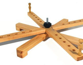 Yarn Swift - A Handmade Amish Style Collapsible Wooden Winder for Knitting Spinning and Tabletop Use - 24 Inch
