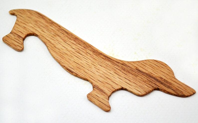 Dachshund Wiener Dog Weaving Shuttle For Weaving Loom Inkle Loom Tablet Weaving Card Weaving Detail Work Handcrafted Weaving Tool Red Oak