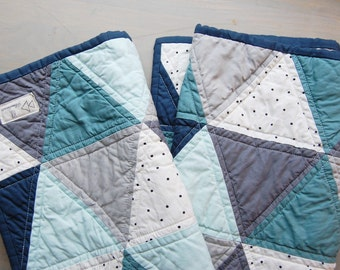 Pick Your Own Triangle Quilt-Made To Order-Crib Quilt