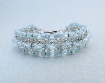 Beaded Swarovski Crystal Bracelet