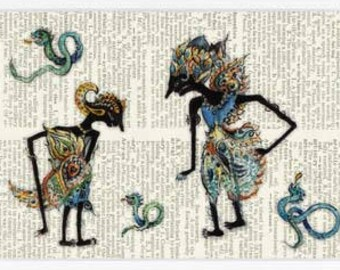 ancient shadow puppets III print